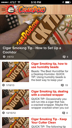 Cigar Dojo Quick Tips