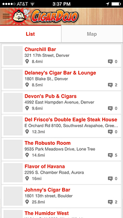 Cigar bar list