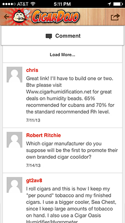 Comments on Cigar Dojo
