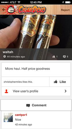 Cigar Dojo post