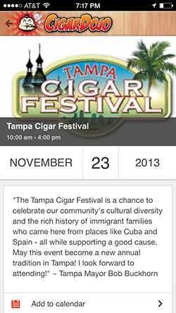 Cigar events app