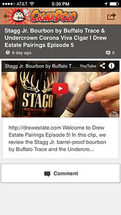 Cigar Dojo videos app