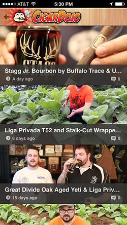 Cigar app videos