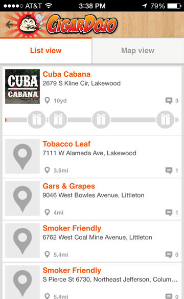 cigar dojo loyalty program shop locator