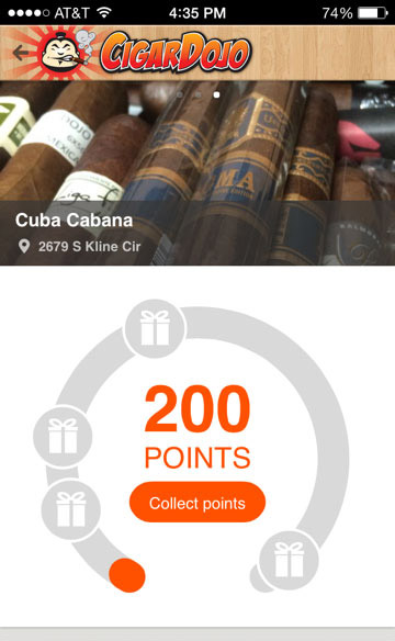 Cigar Dojo loyalty collect points