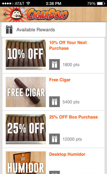 cigar loyalty program find prize